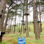 """Kletterpark-Cuxhaven """"Climbing Tree Park"""" in the North Sea in Germany"""